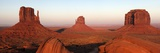 Panoramic Photo of the Mittens at Dusk, Monument Valley Navajo Tribal Park, Utah, USA Photographic Print by Peter Barritt