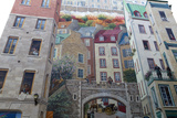 Mural of Quebecers, Quebec City, Quebec Province, Canada, North America Photographic Print by J P De Manne