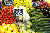 Vegetable Display at Nagycsarnok Market, Budapest, Hungary, Europe Photographic Print by Richard Nebesky