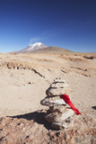 Stack of Prayer Stones on Altiplano, Potosi Department, Bolivia, South America Photographic Print by Ian Trower