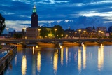 The City Hall at Night, Kungsholmen, Stockholm, Sweden, Scandinavia, Europe Photographic Print by Frank Fell