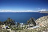View of Yumani, Isla del Sol (Island of the Sun), Lake Titicaca, Bolivia, South America Photographic Print by Ian Trower