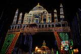 Lighting Arrangements Depicting the Taj Mahal, Kolkata, West Bengal, India, Asia Photographic Print by Bhaskar Krishnamurthy