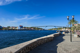 The Sint Annabaai Channel in Willemstad, Capital of Curacao, ABC Islands, Netherlands Antilles Photographic Print by Michael Runkel