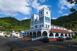 Cathedral in Downton Pago Pago, Tutuila Island, American Samoa, South Pacific, Pacific Photographic Print by Michael Runkel