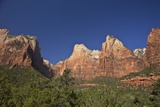 Court of Patriarchs, Abraham Peak, Isaac Peak, Mt Moroni and Jacob Peak, Zion Nat'l Pk, Utah, USA Photographic Print by Peter Barritt