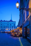Stortorget Square Cafes at Dusk, Gamla Stan, Stockholm, Sweden, Scandinavia, Europe Photographic Print by Frank Fell