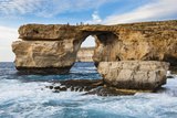 Famous Sea Arch, the Azure Window, Gozo, Malta, Mediterranean, Europe Photographic Print by Michael Runkel