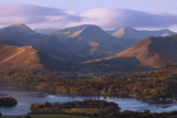View over Derwentwater of Newlands Valley, Lake District Nat'l Pk, Cumbria, England, UK Photographic Print by Ian Egner
