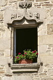 Detail of Window in Inner Courtyard, Beaumanoir Mansion House, Dinan, Brittany, France, Europe Photographic Print by Guy Thouvenin