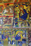 Murals in Christian Monastery and Church of Azuwa Maryam, Zege Peninsula, Lake Tana, Ethiopia Fotografisk tryk af Simon Montgomery