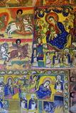 Murals in Christian Monastery and Church of Azuwa Maryam, Zege Peninsula, Lake Tana, Ethiopia Fotografie-Druck von Simon Montgomery