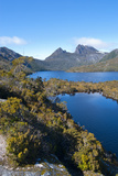 Dove Lake & Cradle Mountain, Cradle Mountain-Lake St Clair Nat'l Pk, UNESCO Site, Tasmania Photographic Print by Michael Runkel