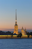 St. Peter and Paul Cathedral and the River Neva at Night, St. Petersburg, Russia, Europe Photographic Print by Martin Child