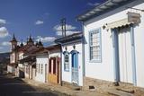Colonial Houses and Nossa Senhora do Carmo Church, Mariana, Minas Gerais, Brazil, South America Photographic Print by Ian Trower