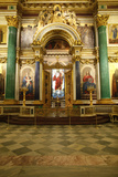 The Iconostasis, St. Issac's Cathedral, St. Petersburg, Russia, Europe Photographic Print by  Godong
