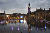 Bradford City Park and Garden of Light Display, Centenary Sq, Bradford, West Yorkshire, England, UK Photographic Print by Mark Sunderland