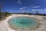 Blue Funnel Spring, West Thumb Geyser Basin, Yellowstone Nat'l Park, UNESCO Site, Wyoming, USA Photographic Print by Peter Barritt