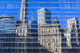 Buildings on West Wacker Drive Reflected in the Trump Tower, Chicago, Illinois, USA Photographic Print by Amanda Hall