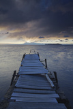 Pier on Isla del Sol (Island of the Sun) at Dawn, Lake Titicaca, Bolivia, South America Photographic Print by Ian Trower