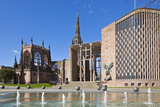 Coventry Old Cathedral Shell and New Modern Cathedral, Coventry, West Midlands, England, UK Photographic Print by Neale Clark