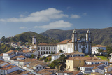 View of Nossa Senhora do Carmo Church and Museu da Inconfidencia, Ouro Preto, UNESCO Site, Brazil Photographic Print by Ian Trower