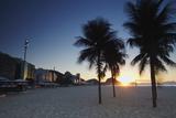 Sunrise on Copacabana Beach, Rio de Janeiro, Brazil, South America Photographic Print by Ian Trower