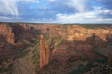 Spider Rock from Spider Rock Overlook, Canyon de Chelly National Monument, Arizona, USA Photographic Print by Peter Barritt