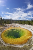 Morning Glory Pool, Upper Geyser Basin, Yellowstone Nat'l Park, UNESCO Site, Wyoming, USA Photographic Print by Peter Barritt