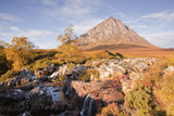 Buachaille Etive Mor Mountain and River Etive at Glencoe and Glen Etive, Highlands, Scotland, UK Photographic Print by Julian Elliott