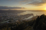 View of Bergen from Mount Floyen, Bergen, Hordaland, Norway, Scandinavia, Europe Photographic Print by Gary Cook