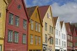 Wooden Buildings on the Waterfront, Bryggen, Vagen Harbour, UNESCO Site, Bergen, Hordaland, Norway Photographic Print by Gary Cook