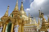 The Shwedagon Pagoda, Yangon (Rangoon), Yangon Region, Republic of the Union of Myanmar (Burma) Photographic Print by J P De Manne