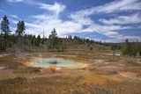 Thermal Springs, Upper Geyser Basin, Yellowstone Nat'l Park, UNESCO Site, Wyoming, USA Photographic Print by Peter Barritt