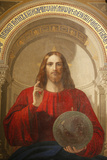Painting of Jesus, the Iconostasis, St. Issac's Cathedral, St. Petersburg, Russia, Europe Photographic Print by  Godong