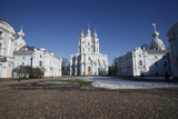 Smolny Cathedral, St. Petersburg, Russia, Europe Photographic Print by  Godong