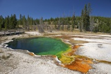 Abyss Pool, West Thumb Geyser Basin, Yellowstone Nat'l Park, UNESCO Site, Wyoming, USA Photographic Print by Peter Barritt