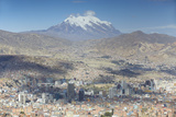 View of Mount Illamani and La Paz, Bolivia, South America Photographic Print by Ian Trower