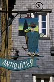 Shop Sign for a Painter's Studio, Dinan, Brittany, France, Europe Photographic Print by Guy Thouvenin