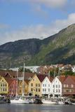 Bryggen, Vagen Harbour, UNESCO World Heritage Site, Bergen, Hordaland, Norway, Scandinavia, Europe Photographic Print by Gary Cook