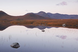 Lochan Na h-Achlaise Reflecting the Surrounding Mountains on Rannoch Moor, Scotland, UK Photographic Print by Julian Elliott