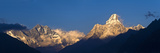 Mount Lhotse, 8501 Metres and Mount Ama Dablam, 6856 Metres,, Khumbu (Everest) Region, Nepal Fotografisk tryk af Ben Pipe