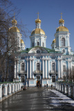 St. Nikolas's Cathedral, St. Petersburg, Russia, Europe Photographic Print by  Godong