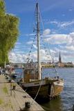 City Skyline and Sailing Ship from Norr Malarstrand, Kungsholmen, Stockholm, Sweden Fotografie-Druck von Frank Fell