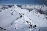 Ski Touring in Alps, Ascent to Punta San Matteo, Border of Lombardia and Trentino-Alto Adige, Italy Photographic Print by Carlo Morucchio