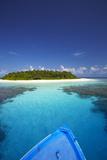 Boat Heading for Desert Island, Maldives, Indian Ocean, Asia Reproduction photographique par Sakis Papadopoulos