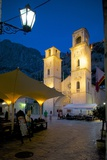 St. Tryphon Cathedral at Night, Old Town, UNESCO World Heritage Site, Kotor, Montenegro, Europe Photographic Print by Frank Fell