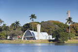 Church of St. Francis of Assisi, Pampulha Lake, Pampulha, Belo Horizonte, Minas Gerais, Brazil Photographic Print by Ian Trower