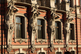 Atlantes Holding Up Columns of Beloselsky-Belozersky Palace, St. Petersburg, Russia, Europe Photographic Print by  Godong