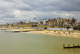 Seafront of Attractive Town with Lighthouse, Beach Huts, Southwold, Suffolk, England, UK Photographic Print by Rob Francis